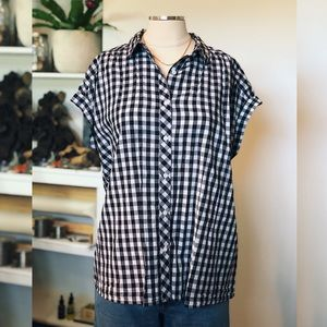 ABOUND | Gingham High-Low Top